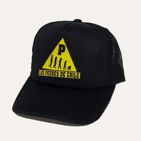 gorra-los-peores-de-chile-negro-amarillo-monos